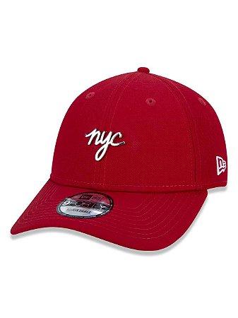 BONE NEW ERA ORIGINAL 940  SN METAL BADGE  NYC RED NEP20BON009