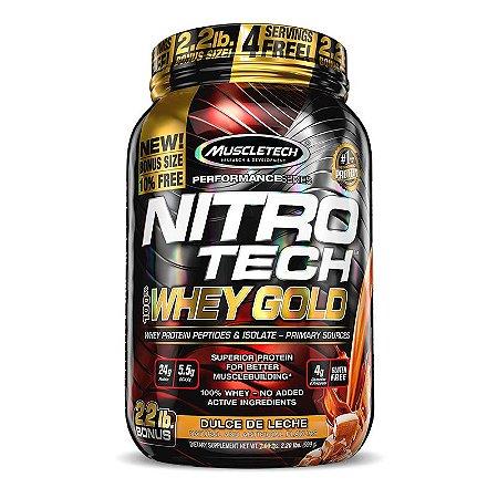 Whey Protein 100% Gold Nitro Tech 1,13kg (2,5 Lbs) - Muscletech