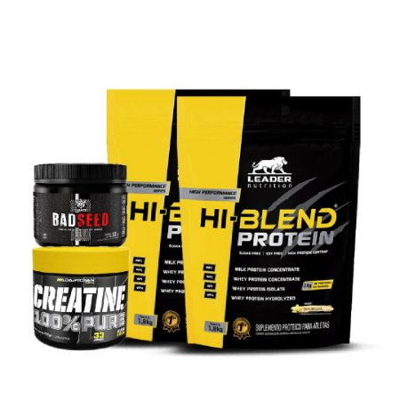 KIT 2 HI-BLEND PROTEIN (1.8kg) + BADSEED (150g) + CREATINE 100% PURE (100g)