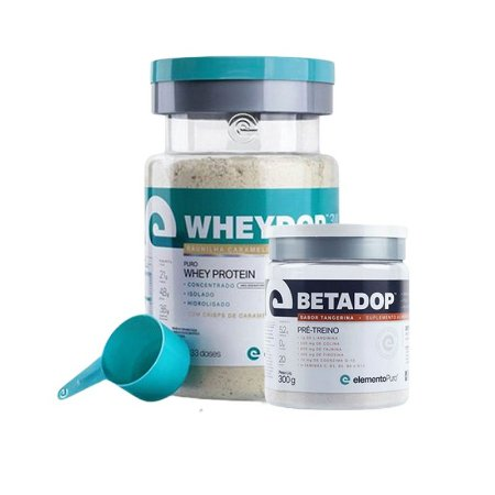 WHEYDOP (900g) + BETADOP (300g) - ELEMENTO PURO