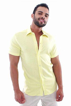 Camisa Viscose Toque de Linho Yellow