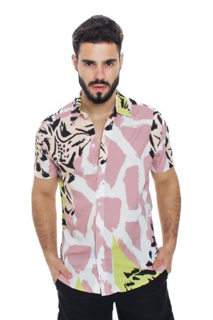 Camisa Viscose Animal Print Gringa