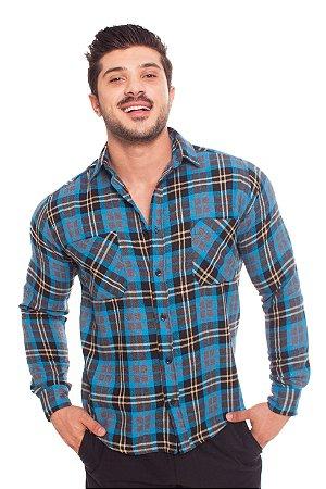 Camisa Flanela Azul