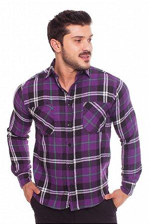 Camisa Flanela Roxa