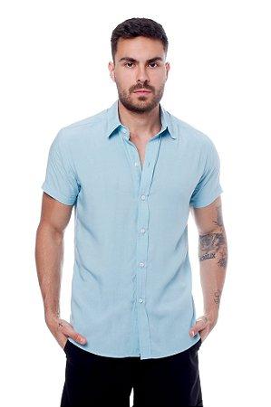 Camisa Viscose Azul Claro