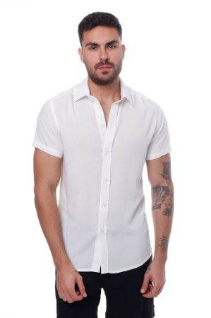 Camisa Viscose OFF White