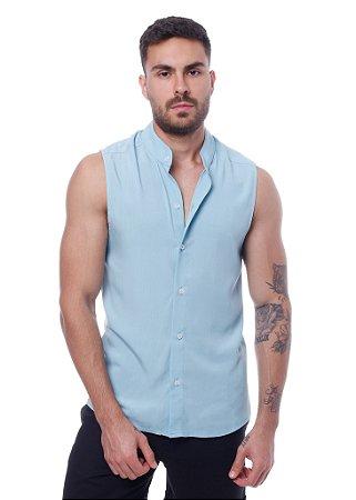 Camisa Viscose Machão Azul Claro
