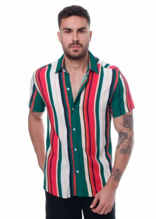Camisa Viscose Listrada