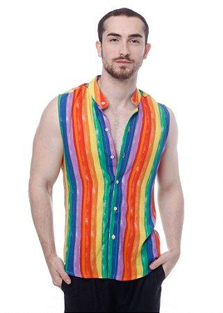 Camisa Viscose Machão Arco Íris