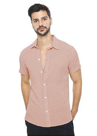 Camisa Viscose Rosa Seco