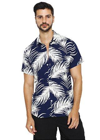 Camisa Viscose Azul Coqueiro