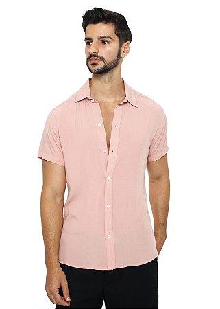 Camisa Viscose Rosa Bebe