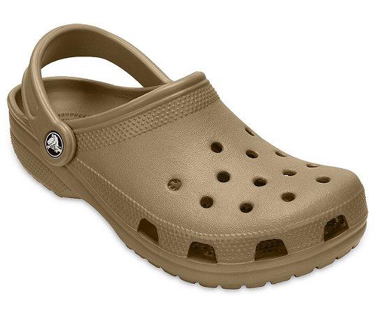 Sandália Crocs Classic - Khaki/Bege