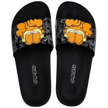 Chinelo Zaxy Lazy Garfield Slide - Preto