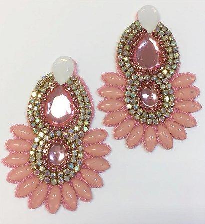 Cabedal I Cocar Rosa Claro - Par