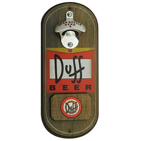 Abridor de cerveja de parede oval - Cerveja Duff