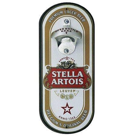 Abridor de cerveja de parede oval - Cerveja Stella Artois