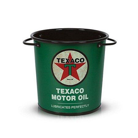 Balde retrô Texaco Motor Oil