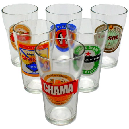 Conjunto 6 copos Boteco Cervejas do Brasil