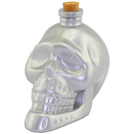 Garrafa Crânio de Caveira prata pequena