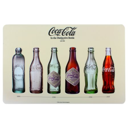 Jogo Americano Coca-cola Bottles bege 43,5x28,5cm