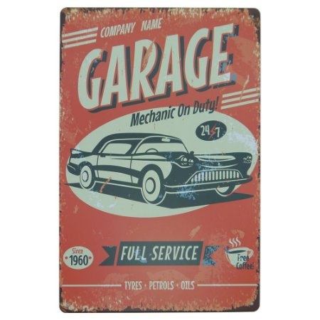 Placa decorativa Garage
