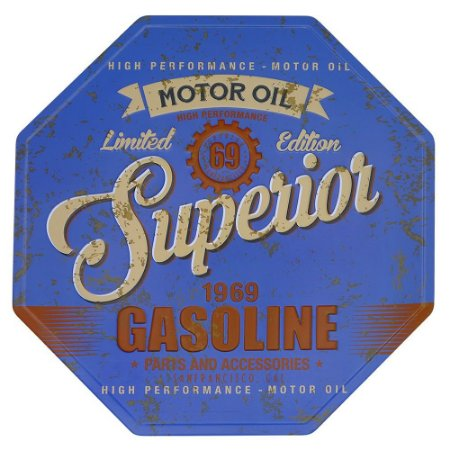 Placa decorativa Gasoline