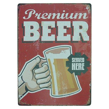 Placa decorativa Premium Beer