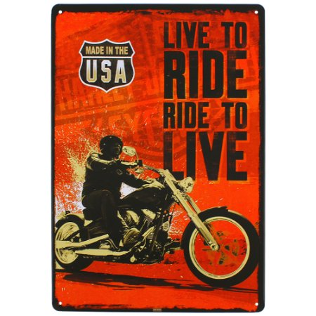 Placa decorativa Ride to Live