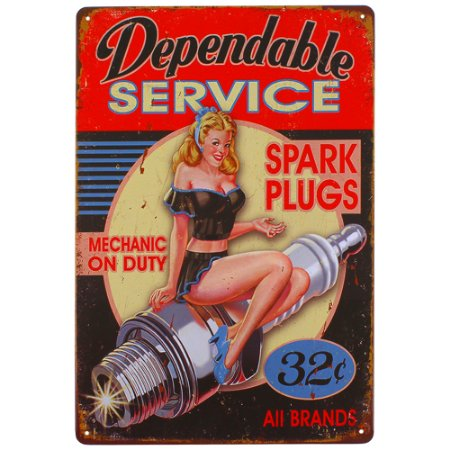 Placa decorativa Spark Plugs