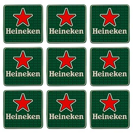 Porta copo emborrachado Heineken