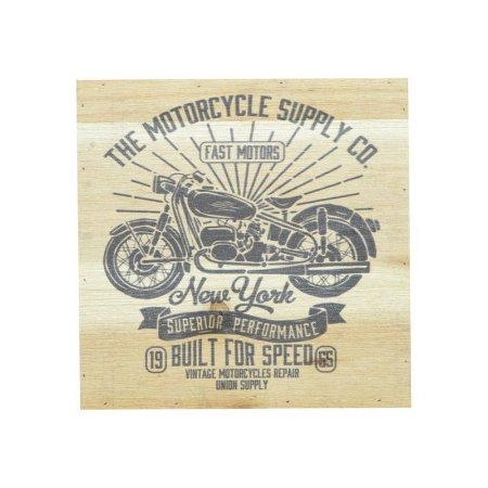 Tela Wooden Style Built for Speed Bike bege