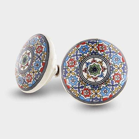 Puxador em Cerâmica pintados à mão
