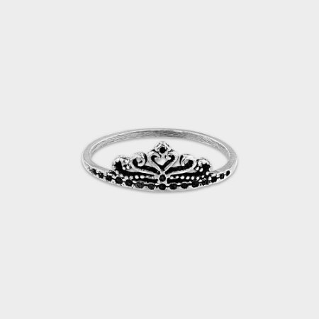 Anel Coroa Prata 925