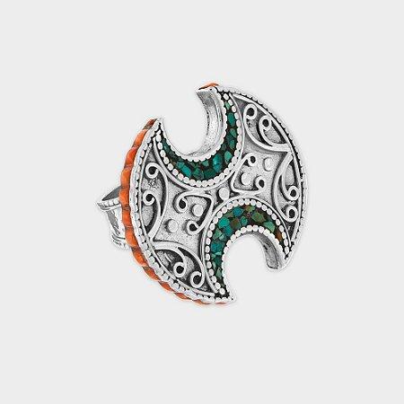 Anel Nepal H em Prata 925