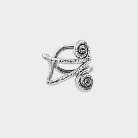 Anel Rústico Espiral em Prata 925