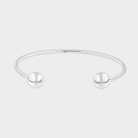 Bracelete Bolinhas Fina Prata 925