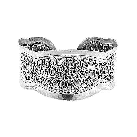 Bracelete Flor Prata 925