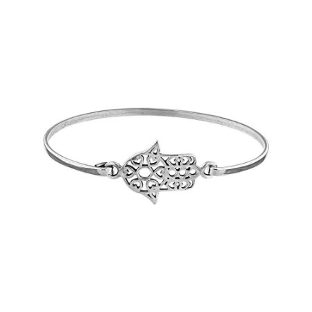Bracelete Místico Hamsá Prata 925