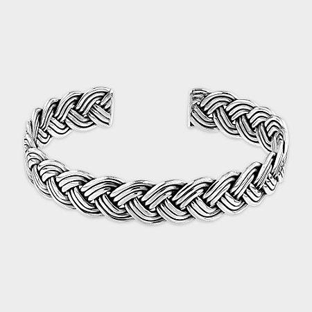 Bracelete Trançado Prata 925