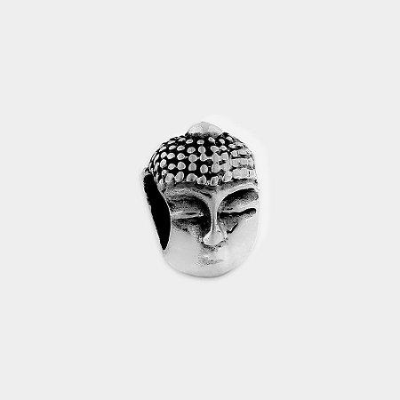 Charm Cabeça Buda Prata 925