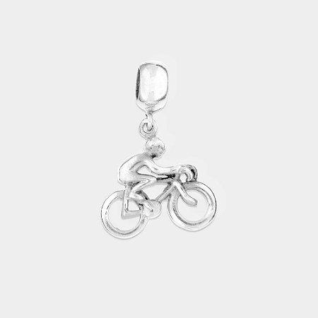 Charm Ciclista com Bike Prata 925