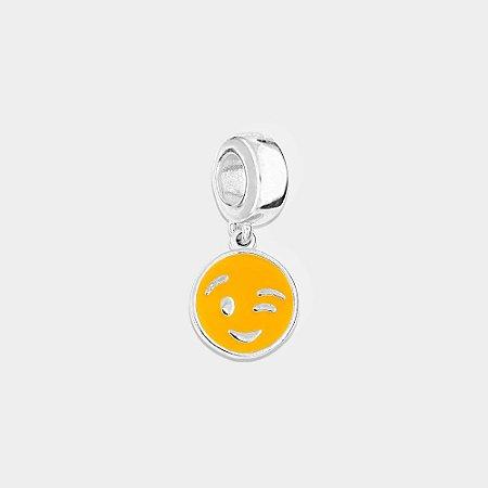 Charm Emoticon Prata 925