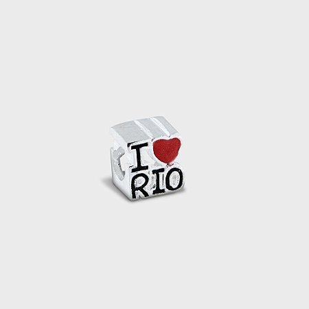 Charm I love Rio em Prata 925