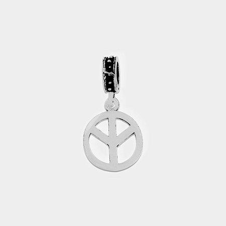 Charm Paz e Amor Invertido Prata 925