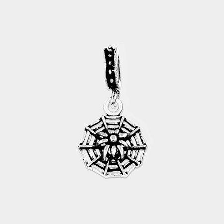 Charm Teia com Aranha Prata 925