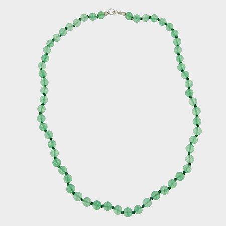 Colar Prata 925 e Quartzo Verde