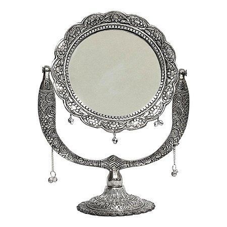 Espelho Indiano de Mesa Redondo Trabalhado
