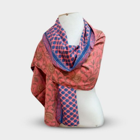 Pashmina M Patchwork Indiano Dupla face