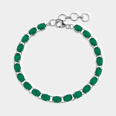Pulseira Prata 925 Onix Verde